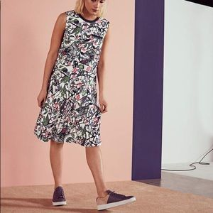 Ted Baker LOCKETT Floral print bias cut dress